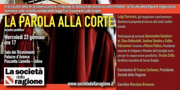 LA PAROLA ALLA CORTE - Ristretti.it