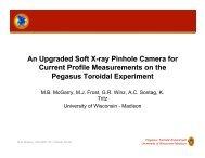 An Upgraded Soft X-ray Pinhole Camera for - Pegasus Toroidal ...