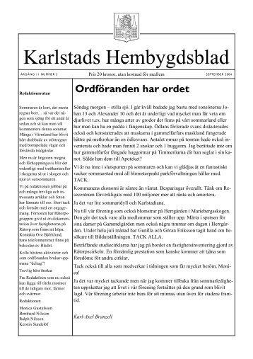 Nr 3 2004 - Karlstads Hembygdsförening