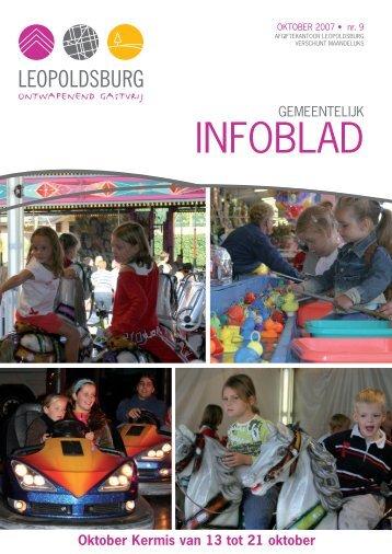 Infoblad oktober 2007 - Leopoldsburg