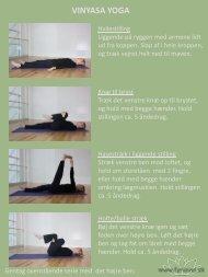 Vinyasa Yoga programmet - Fysiovel
