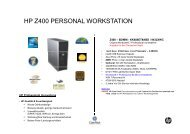 HP Z400 PERSONAL WORKSTATION