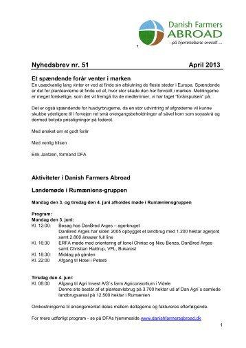 Nyhedsbrev nr. 51 + presseklip - Danish Farmers Abroad