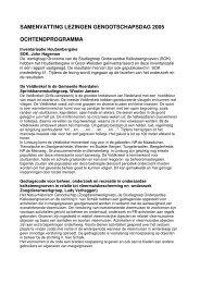 samenvattingen NHGL dag 2005 - Natuurhistorisch Genootschap in ...
