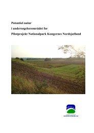 Potentielle naturområder i Nordsjælland - Danmarks nationalparker
