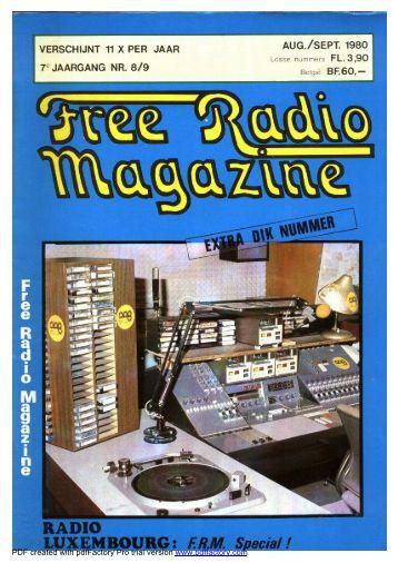 Fotoafdruk op volledige pagina - Free Radio Magazine