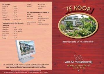 Bisschopsberg 24 te Zoetermeer - Van As Makelaardij