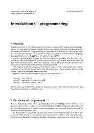 Introduktion till programmering - Sm.luth.se