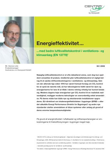 Energieffektivitet... - Honeywell