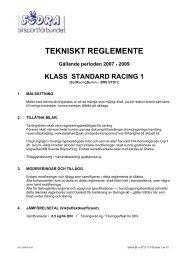Tekniskt reglemente klass STD 1 - Södra Bilsportförbundet