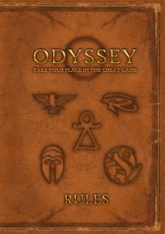 Odyssey rules - Profound Decisions