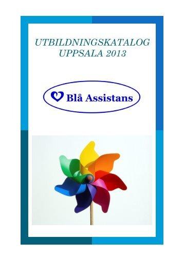Utbildningskatalog Uppsala 2013 - Blå Assistans