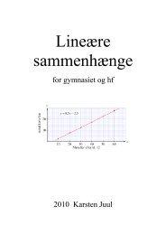 Lineære sammenhænge for gymnasiet og hf - Matematik i ...