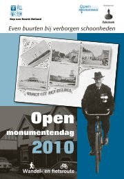 Even buurten bij verborgen schoonheden - Gemeente Den Helder