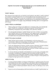 Algemene Verkoopvoorwaarden van Akzo Nobel Base Chemicals B