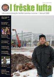 Informationstidning för Storfors kommun nummer 1, februari 2009