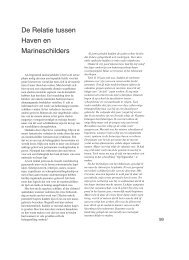 De Relatie tussen Haven en Marineschilders - KGvA