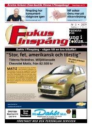 """Stor, fet, amerikansk och törstig"""" - Fokus Finspång"""