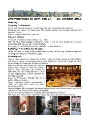 Program for rejsen (pdf) - Rom-guide