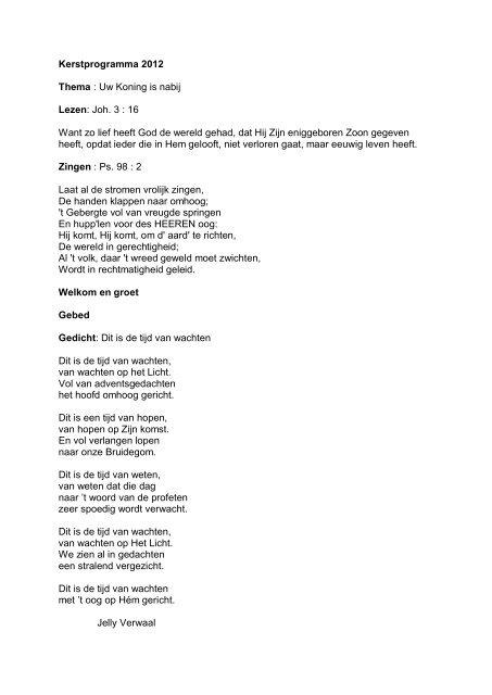 Gedicht advent van nel benschop