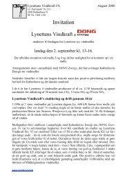 Nyhedsbrev August 2006 - lynettens vindkraft i/s