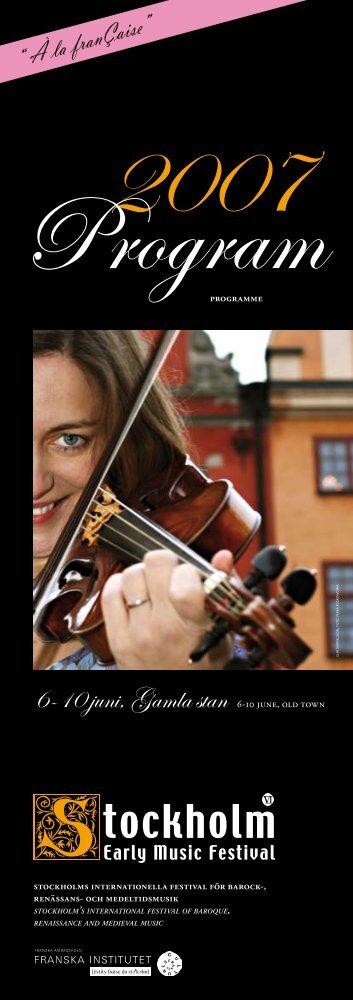 festivalprogram - Stockholm Early Music Festival