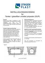 INSTALLASJONSANVISNING for Tanker i ... - Lyngen Plast AS