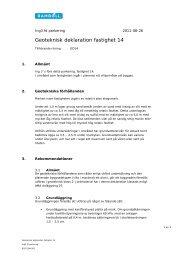 Geoteknisk deklaration fastighet 14