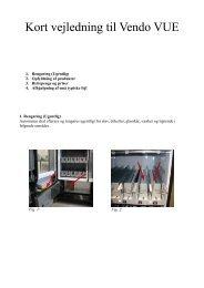 Kort vejledning til Vendo VUE - ABC Kantineautomater
