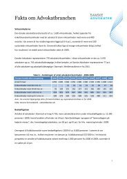 Fakta om Advokatbranchen - Danske Advokater