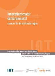 Innovationsmotor Seniorenmarkt - beim Institut Arbeit und Technik