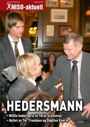 Årets spiller 2009 - Om NISO