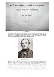 Van huursoldaat tot prominent entrepreneur in pre-industrial ...