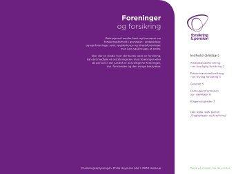 Foreninger og forsikring - Forsikring & Pension