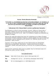 """Amager d. 19.07.2012 Kursus i Bachs Blomster Remedier """"Vi forstår ..."""