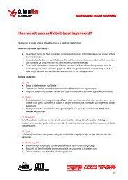 Hoe wordt een activiteit best ingevoerd - CultuurNet Vlaanderen