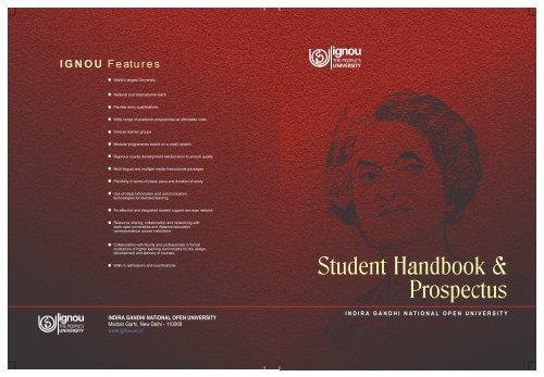 Common prospectus - Online Admission - IGNOU