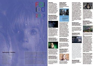 flyer met het jaarprogramma - Fotoclub Doesburg
