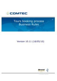 Tours Booking Process Business Rules 10.8 - African Safari Club