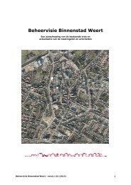 Beheervisie Binnenstad Weert.pdf - Gemeente Weert