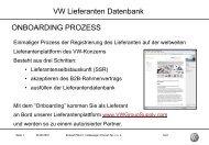 VW Lieferanten Datenbank ONBOARDING PROZESS - Volkswagen ...