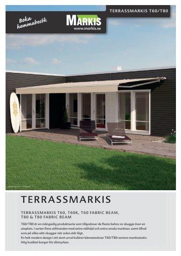 Produktblad Terrassmarkis T60 Fabric Beam