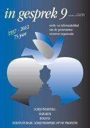 November - december 2012 - Protestantse Vrouwen Organisatie