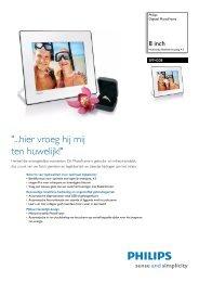 SPF4208/10 Philips Digitaal PhotoFrame - Opus