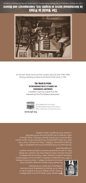 The World in Prints - Newark Public Library