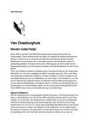 Van Doesburghuis algemene tekst - Fonds Podiumkunsten