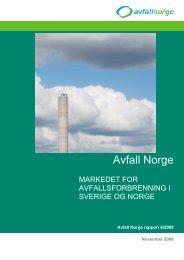prosjektrapport - Avfall Norge