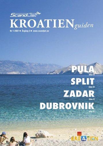 SPLIT DUBROVNIK ZADAR PULA - Scandjet