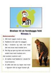 Øvelser til at forebygge fald Niveau 1 - Bispebjerg Hospital