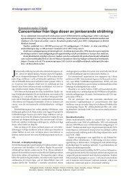 Cancerrisker från låga doser av joniserande strålning - OKG AB